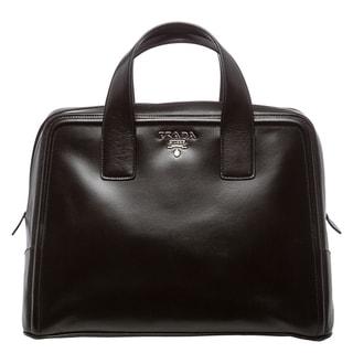 Prada Black Boxy Calf Leather Satchel