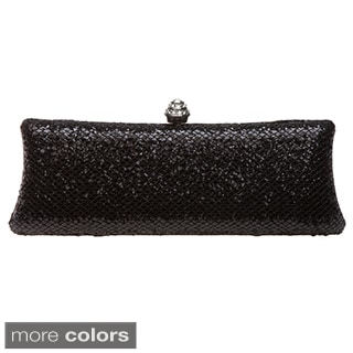 J. Furmani Hardcase Shiny Concealable Chain Clutch