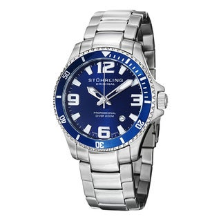 Stuhrling Original Men's Regatta Champion Swiss Quartz Divers Bracelet Watch