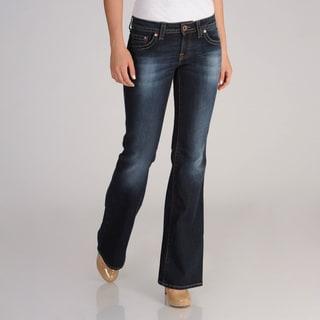 Mavi Women's Super Low-Rise Zipper-Fly Flare Jeans