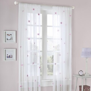 Mi Zone Taylor Flower Sheer Tailored Curtain Panel