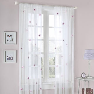 Mi Zone Taylor Flower Sheer Tailored Curtain Panel (4 options available)