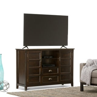 WYNDENHALL Portland Collection Espresso Brown Tall TV Stand for TV's up to 60 Inches