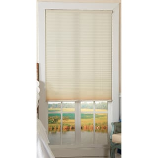 Light-Filtering Ivory Cordless Pleated Shades