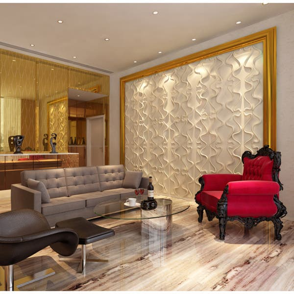 Living Room Designs Indian Style Middle Class, Shop Black Friday Deals On 3d Contemporary Wall Panels Gesture Design Set Of 10 Overstock 8202006