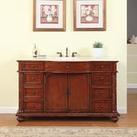 Silkroad Exclusive 60-inch Natural Stone Countertop Bathroom Single Sink Vanity