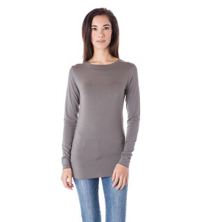 AtoZ Long Sleeve Modal Crew Neck Top