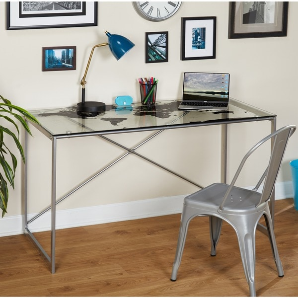 Shop Simple Living World Map Desk   Free Shipping Today