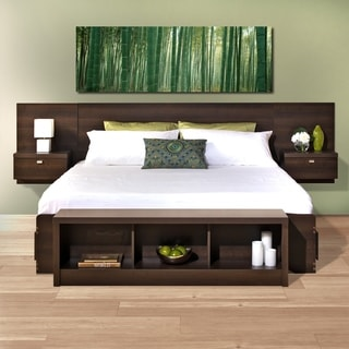 Prepac Valhalla Designer Series Wood Floating King Headboard & Buy Wall Mounted Headboards Online at Overstock.com | Our Best ...