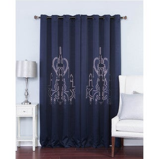 Aurora Home Chandelier Punch-out Design Blackout 84-inch Curtain Panel Pair