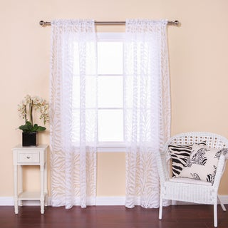 Aurora Home Zebra Burnout Sheer 84-inch Rod Pocket Curtain Pair