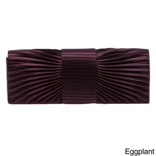 J. Furmani Pleated Satin Clutch (4 options available)