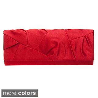 J. Furmani Satin Allover Tucked Evening Bag