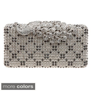 J. Furmani Hardcase Crystal Peacock Clutch