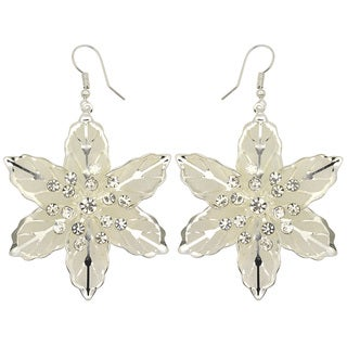 Kate Marie Silvertone Rhinestone 'Rona' Fashion Earrings