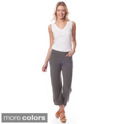 AtoZ Women's 'Michelle' Pull-on Crop Pants