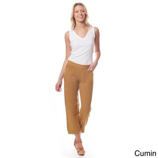 AtoZ Women's Pull-on Crop Pants