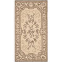 Safavieh Indoor/ Outdoor Courtyard Cream/ Brown Rug - 2'7' x 5'