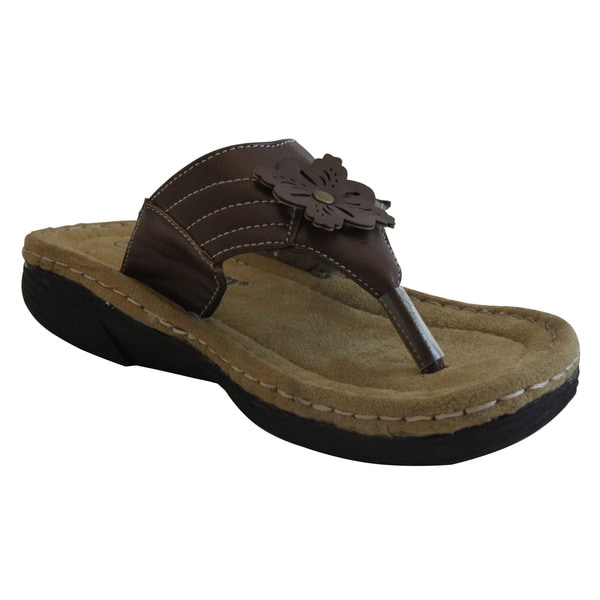 Women's Brown Flip Flop Sandals