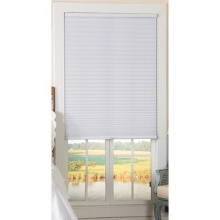 Light-Filtering Cordless White Pleated Shade