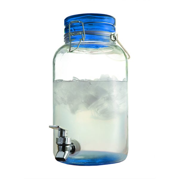 Style Setter Glass 1-gallon Beverage Dispenser