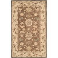 Safavieh Handmade Anatolia Treasure Oriental Brown/ Beige Hand-spun Wool Rug - 3' x 5'