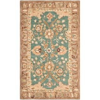 Safavieh Handmade Anatolia Oriental Teal/ Camel Hand-spun Wool Rug (3' x 5')