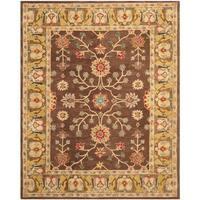 Safavieh Handmade Anatolia Classic Oriental Brown/ Gold Hand-spun Wool Rug - 8' x 10'