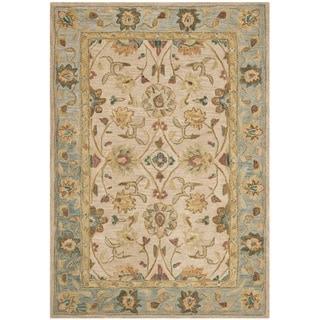 Safavieh Handmade Anatolia Oriental Ivory/ Blue Hand-spun Wool Rug (3' x 5')