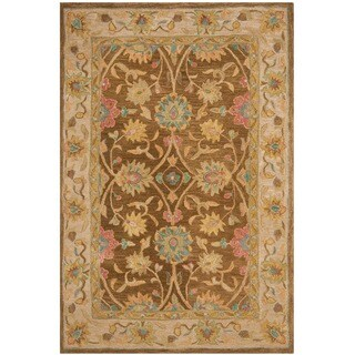 Safavieh Handmade Anatolia Oriental Brown/ Ivory Hand-spun Wool Rug (3' x 5')
