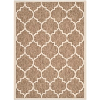 Safavieh Indoor Outdoor Courtyard Brown Bone Rug 2 3 X