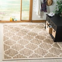 Safavieh Courtyard Moroccan Pattern Brown/ Bone Indoor/ Outdoor Rug - 5'3 x 7'7