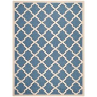Safavieh Courtyard Moroccan Trellis Blue/ Beige Indoor/ Outdoor Rug (8' x 11')