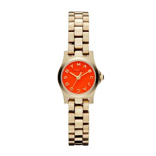 Marc Jacobs Women's 'Henry Dinky' Orange Goldtone Watch - GOLD