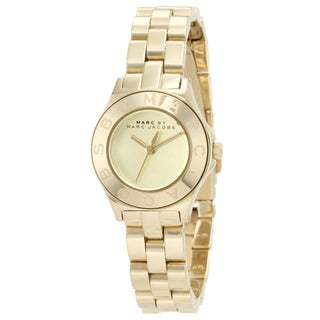 Marc Jacobs Women's MBM3131 'Blade' Goldtone Stainless Steel Watch