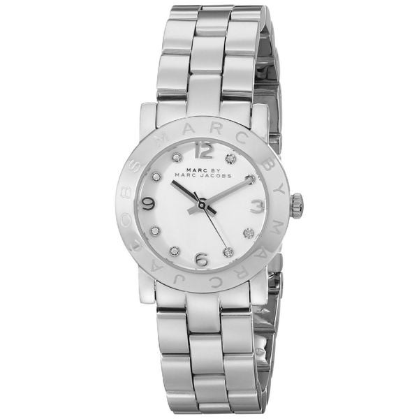 shop marc jacobs womens amy crystal silver stainless