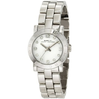 Marc Jacobs Women's MBM3055 'Amy' Crystal Silver Stainless Steel Watch