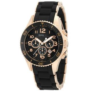 Marc Jacobs Women's 'Pelly' Black Dial Chronograph Watch - GOLD