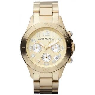 Marc Jacobs Women's MBM3188 Rock Round Goldtone Bracelet Watch