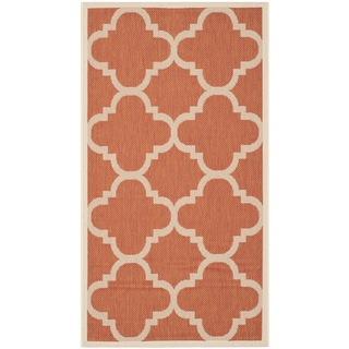 Safavieh Courtyard Quatrefoil Terracotta Indoor/ Outdoor Rug (2'7 x 5')