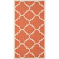 Safavieh Courtyard Quatrefoil Terracotta Indoor/ Outdoor Rug - 2'7 x 5'