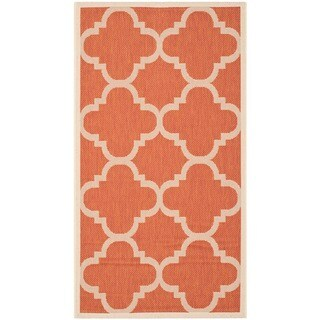 Safavieh Courtyard Quatrefoil Terracotta Indoor/ Outdoor Rug (4' x 5'7)