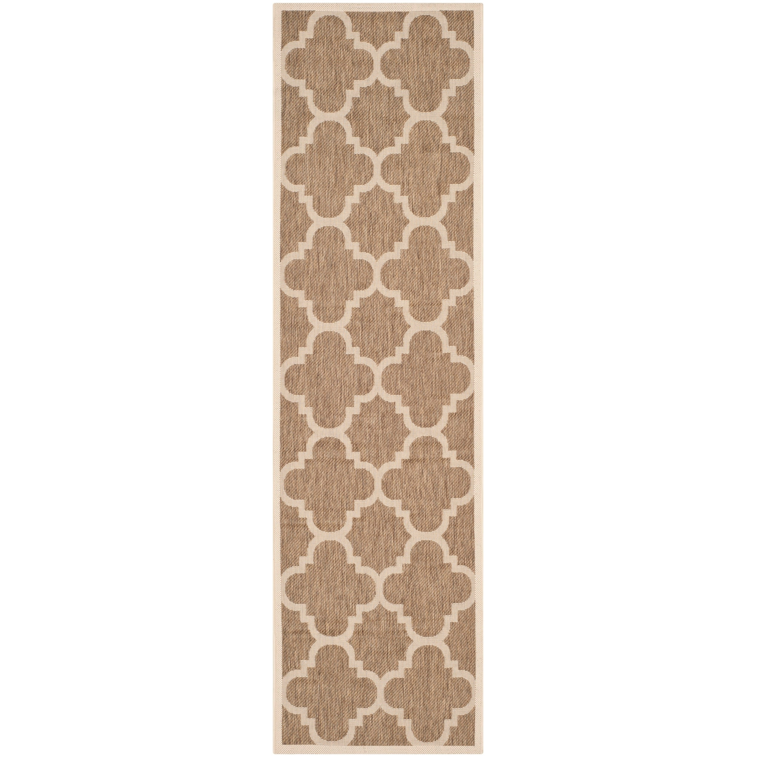 Safavieh Indoor/ Outdoor Courtyard Brown Rug (23 X 8)