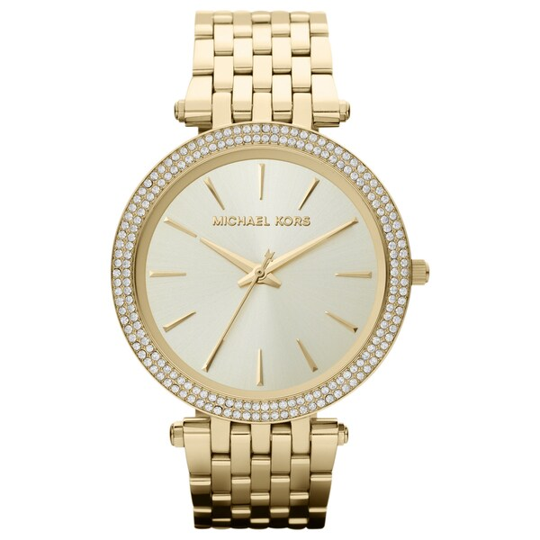 Michael Kors Women's MK3191 'Darci' Goldtone Watch - Gold