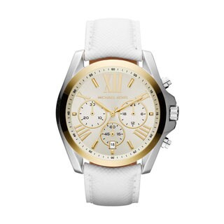 Michael Kors Women's MK2282 'Bradshaw' Chronograph Watch - WHITE
