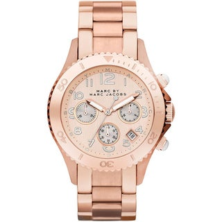 Marc Jacobs Women's MBM3156 'Rock' Rosetone Stainless Steel Watch