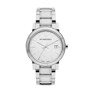 Burberry Women's 'City' Silvertone/ White Watch