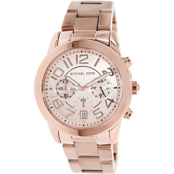 ad112212396f Shop Michael Kors Women s  Mercer  Rose Gold-Tone Watch - Free Shipping  Today - Overstock - 8202467