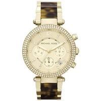 Michael Kors Women's MK5688 Parker Goldtone Tortoise Glitz Watch