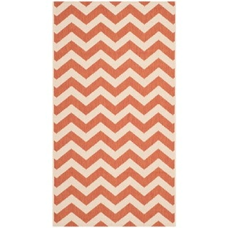 Safavieh Courtyard Chevron Terracotta/ Beige Indoor/ Outdoor Rug (2u0027 X ...